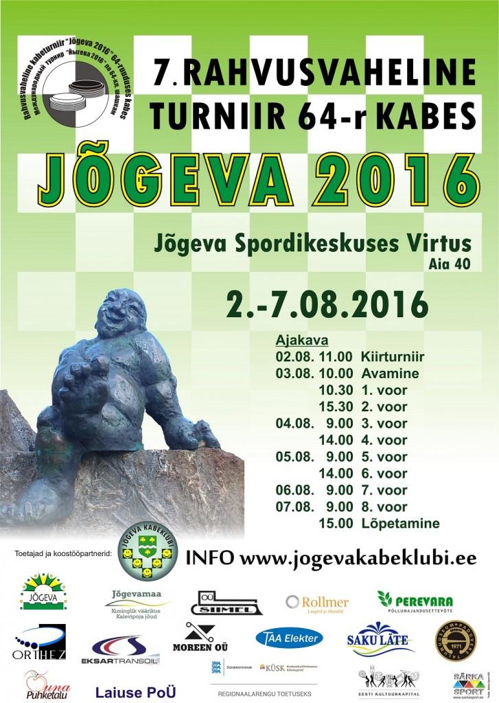 Plakat Jõgeva 2016